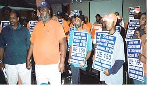Sanitation workers in Raleigh, N.C.