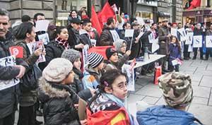 Tunisian protest in Vienna.
