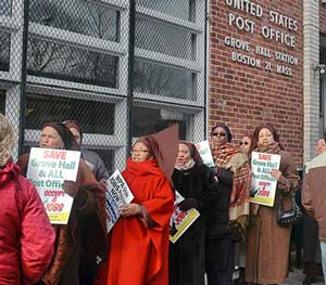 mlk protest hits post office closings
