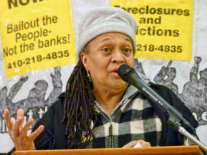 Pam Africa: 'We have one enemy — Corporate America.'WW photo: Joseph Piette