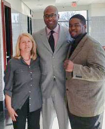 "Sharon Black, J. Wyndal Gordon and Rev. Cortly ""CD"" Witherspoon."