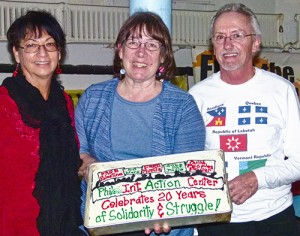 IAC leaders Berta Joubert-Ceci, Betsey Piette and Joe Piette, Jan. 6.Photo: Sandy Jones