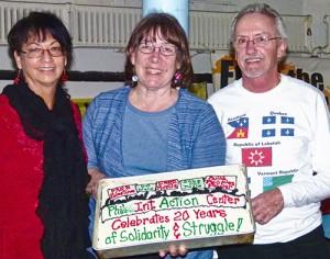 IAC leaders Berta Joubert-Ceci, Betsey Piette and Joe Piette, Jan. 6.Photo: Sandy Jones