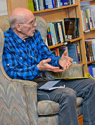 Fred Goldstein at the Inquiring Minds bookstore.