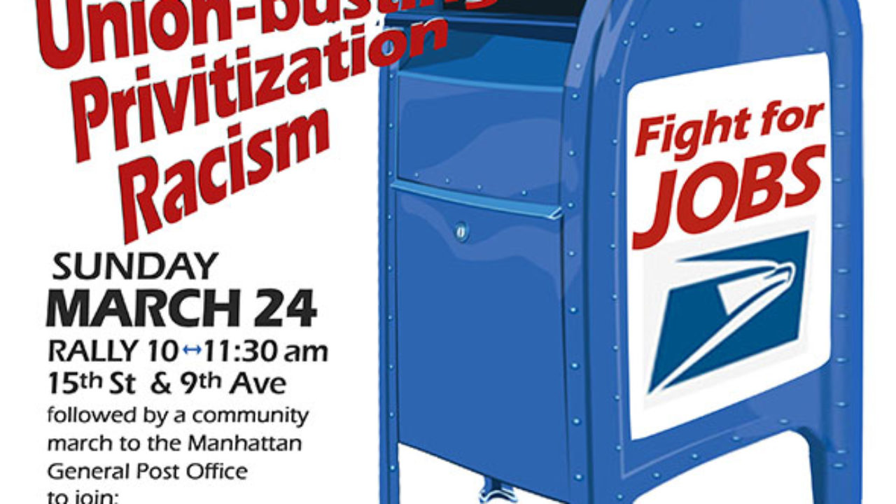 March 24 national protests to demand NO cuts to postal