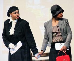 Depicting Harriet Tubman & Rosa Parks.WW photo: Monica Moorehead