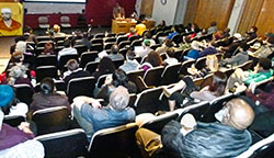 Audience at book launch at Temple University.WW photo: Joseph Piette
