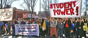 Historic Thousands on Jones Street march, Feb. 9, Raleigh, N.C.Photo: North Carolina Student Power Union
