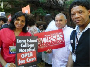 Long Island College Hospital workers participate in Sept. 13 press conference announcing their victory.WW photo: Anne Pruden