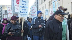 Protesting Detroit bankruptcy, Oct. 23.