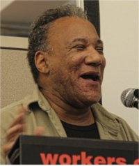 First Secretary Larry Holmes closes WWP conference.WW photo: Brenda Ryan