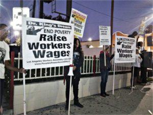 Los Angeles: KFC worker chants '$15 yeah!'WW photo: Scott Scheffer
