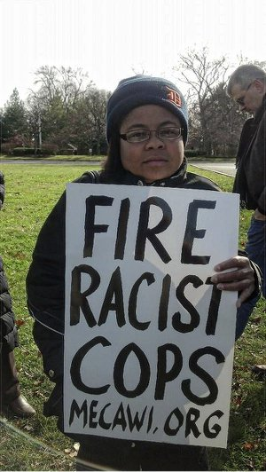 Gabrielle Melton at Nov. 20 protest.WW photo: Kris Hamel