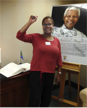 Monica Moorehead at South African Mission in New York.