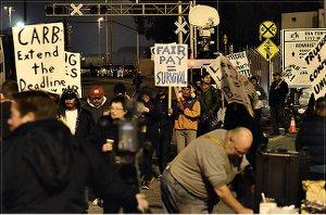 Truckers and supporters, Nov. 27.Photo: Daniel Arauz
