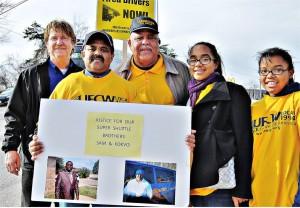 Supporters say Veolia treats drivers like 'corporate slaves.'WW photo: Sharon Black
