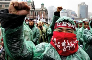 Strike by south Korean railroad workers, above, has sparked solidarity from unions all over, including in San Francisco.