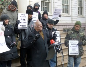 Charles Barron calls for firing of police commissioner.WW photo: Greg Butterfield