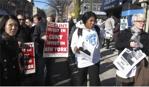 Teachers at all levels protest in Brooklyn, N.Y.