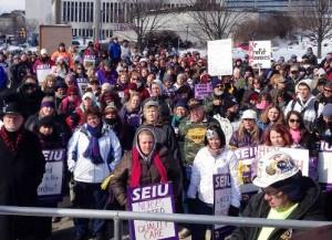 Nurses strike at Medical Center in Altoona, Pa.