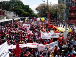 March 9 rally in Caracas in defense Venezuela and against the U.S.-backed fascist gangs. Photo: www.nicolasmaduro.org.ve
