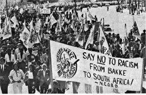 35,000 marched on Washington D.C., in April 1978 to 'Beat Back Bakke,' an attack on affirmative action.