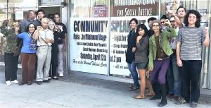 Los Angeles activists, April 12.WW photo: Scott Scheffer