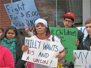 April 3 protest at McDonald's restaurant in Philadelphia.WW photo: Joseph Piette