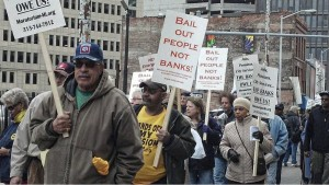 Retirees protest cuts, April 1.WW photo: Kris Hamel