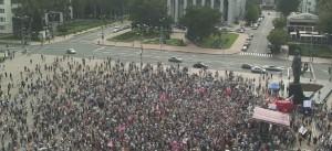 Rally in Donetsk People's Republic against Ukraine junta's war crimes, July 6.Photo: DNR Press