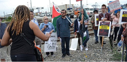 Action set to blockade Israeli ship in Oakland, Calif.