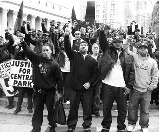 Photo from a leaflet for an Oct. 29, 2012, protest for the Central Park Five.