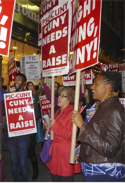 New York faculty, staff demand contract