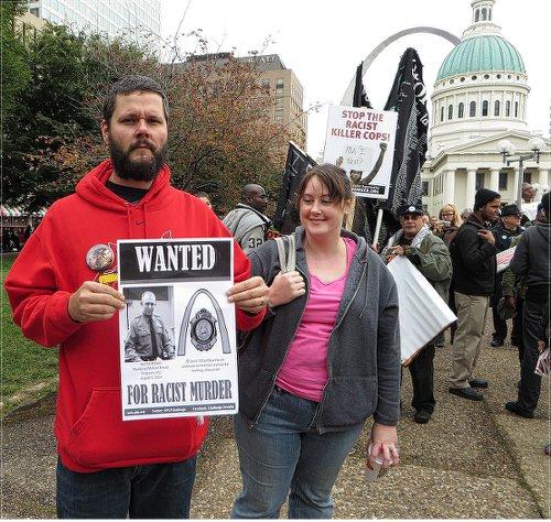 Oct. 11 rally, St. Louis. WW photo: Monica Moorehead