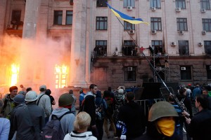 Fascists burn Odessa House of Trade Unions May 2.
