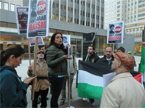 New York City, Oct. 20. Support for Rasmea Odeh.WW photo: Anne Pruden