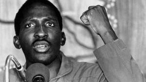Thomas Sankara, president of Burkina Faso, 1984-1987.