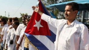 Cuban health care workers set off to join Africans in the fight stop Ebola.