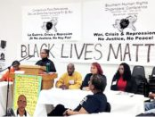 Opening panel at Southern Human Rights Organizing Conference.WW photo: Dante Strobino