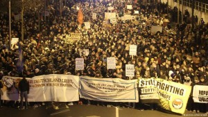 Leipzig's counter-demonstration drew the biggest crowd.