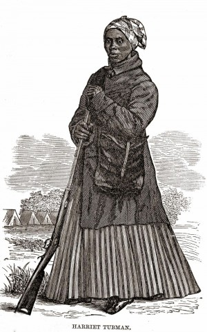 Harriet Tubman served as a spy and a scout for the First South Carolina Volunteers, a regiment of escaped slaves in the Civil War.