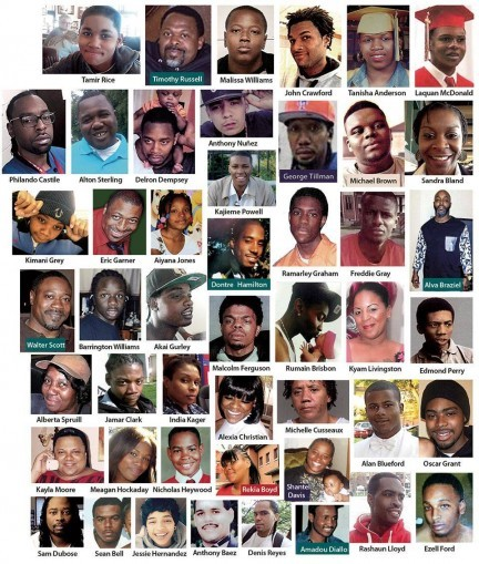 Names and faces of just a handful of those whose lives have been stolen by the police.