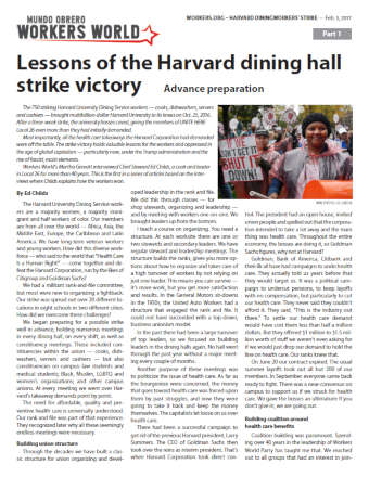 Book Cover: Lessons of the Harvard Dining Hall Strike Victory