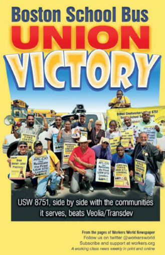 Book Cover: Boston School Bus Union Victory