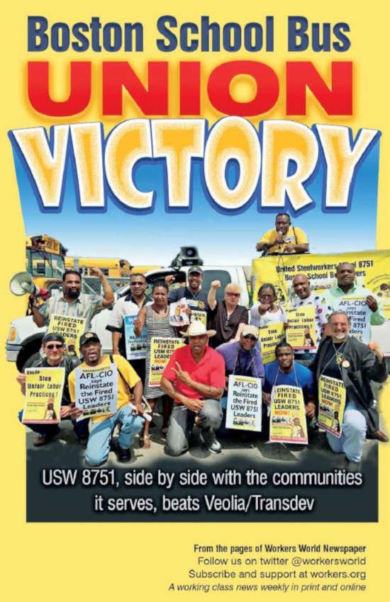 Book Cover: Boston School Bus Union Victory