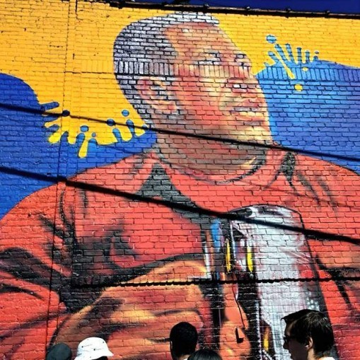 Hugo Chávez mural in the South Bronx.