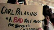 "Rally shouts ""HELL NO, Carl Paladino! Sexism and Racism is NOT 'normal' at the Buffalo School Board, Oct. 12."