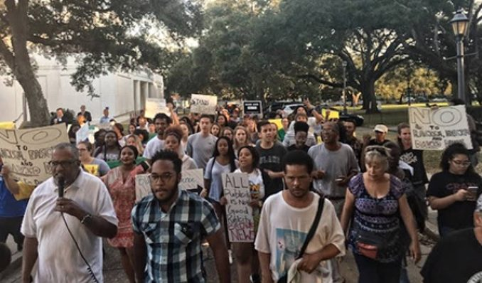 Dillard College alumni challenges cops protecting KKK-leader David Duke Nov. 2.