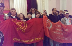 Some of the participants of the Donbass International Solidarity Forum.Photo: Donbass International Solidarity Forum