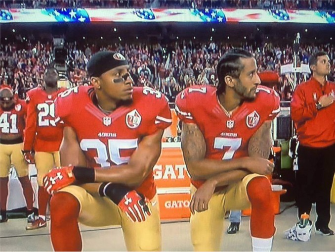 Eric Reid and Colin Kaepernick at Sept. 12 game.